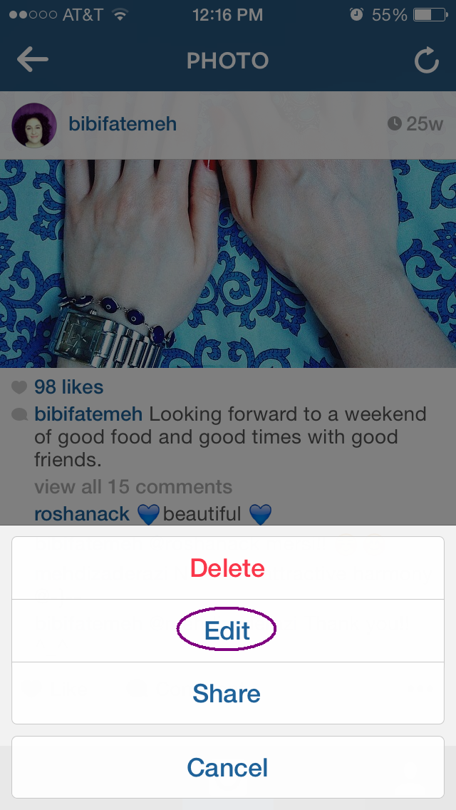 how to tag people on Instagram after sharing | Fatemeh Fakhraie